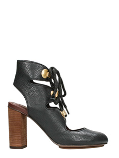 See by Chloé-Black Leather ankle boots