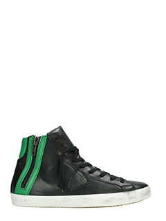 Philippe Model-Sneakers Bike in pelle verde