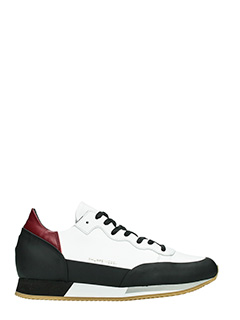 Philippe Model-Sneakers BrightLow in pelle bianca