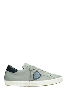 Philippe Model-Sneakers Classic in pelle  grigia blue
