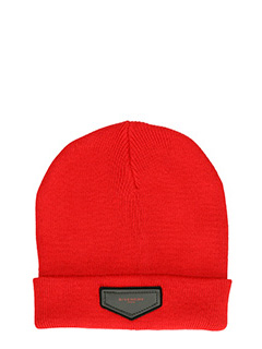 Givenchy-Cappello in lana rossa