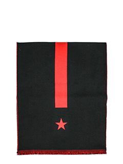 Givenchy-Sciarpa in lana nera rossa