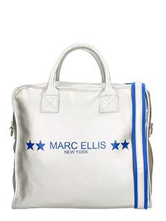 Marc Ellis-Borsa in tessuto argento