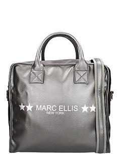 Marc Ellis-Borsa in tessuto grigio-doppio manico
