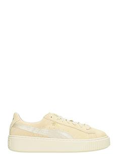Puma-Sneakers  Suede Platform Mono in camoscio beige