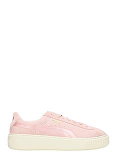 Puma-Sneakers  Suede Platform Mono in camoscio rosa