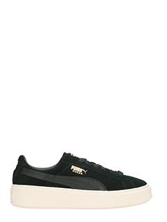 Puma-Sneakers  Suede Platform Mono in camoscio nero
