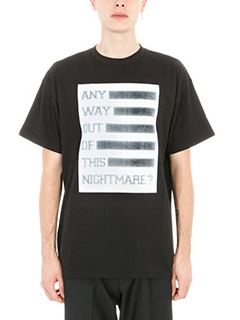 Raf Simons-T-shirt Any Way Out in cotone nero