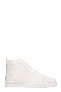 Christian Louboutin-Sneakers Louis in pelle bianca