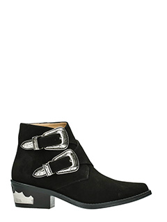 Toga Pulla-black suede ankle boots