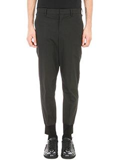Neil Barrett-Black Cotton Elastic trouser