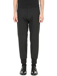 Neil Barrett-elasticated waistband black wool pants