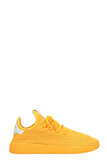 Adidas-Sneakers Pharrell Williams Tennis Hu in tessuto giallo