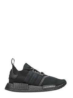 Adidas-Sneakers NMD_R1 Primeknit  in tessuto nero