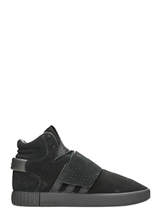 Adidas-Sneakers Tubular Invader in suede nero
