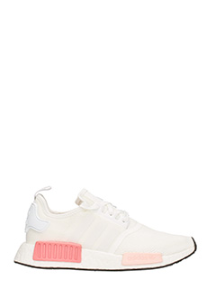 Adidas-Sneakers NMD R1 Running in tessuto bianco