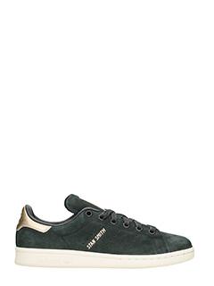 Adidas-Stan Smith black nubuck sneakers