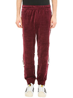 Adidas-burgundy velour Challenger pants