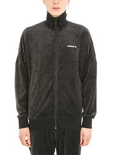 Adidas-Felpa Challenger in velluto nero