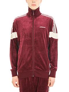 Adidas-Felpa Challenger in velluto burgundy