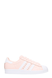 Adidas-Superstar 80 S W  pink leather sneakers