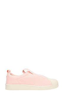Adidas-Sneakers Superstar BW35 Slip On in gomma e tessuto rosa
