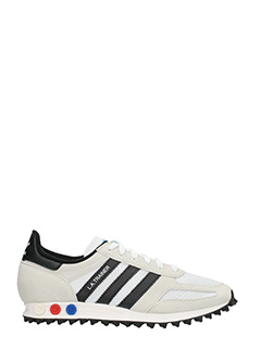 Adidas-Sneakers LA Trainer in suede e tessuto grigio