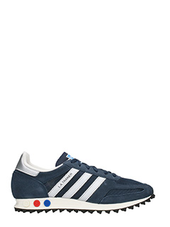 Adidas-Sneakers LA Trainer in suede e tessuto blue