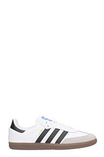 Adidas-Sneakers Samba in pelle e suede bianco nero