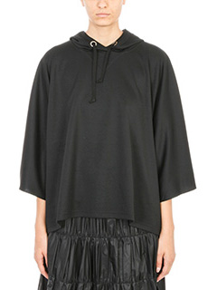 Maison Margiela-Felpa Oversized in viscosa nera
