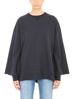 Maison Margiela-Felpa Oversized in cotone blue