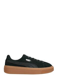Puma-Sneakers Suede Platform in camoscio nero