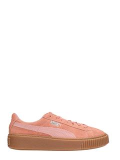 Puma-Sneakers Suede Platform in camoscio rosa