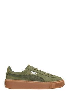 puma basket verde militare