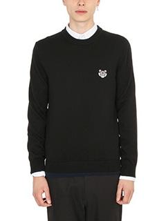 Kenzo-Tiger crest black wool knitwear
