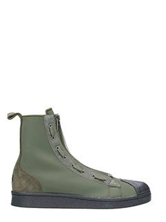 Y-3-Sneakers Pro Zip in tessuto verde oliva