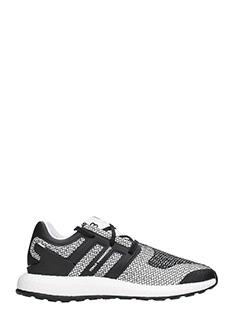 Y-3-Sneakers Pure Boost in tessuto binco e nero