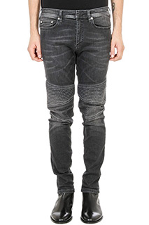 Neil Barrett-Jeans biker in denim nero