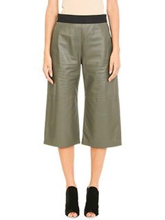 Neil Barrett-green leather shorts