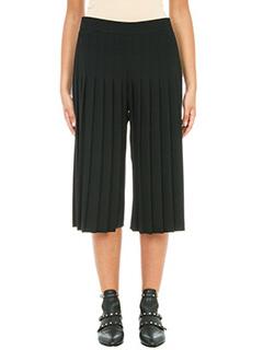 Neil Barrett-Pantaloni pliss� in lana e cotone nero