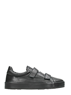 Jil Sander-Sneakers in pelle nera