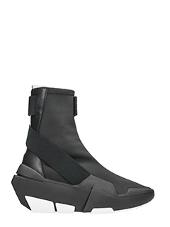 Y-3-Sneakers Mira Boots in tessuto elastico nero