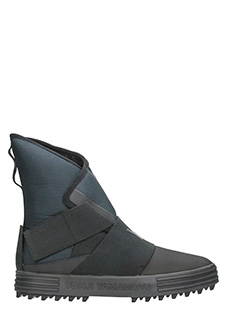 Y-3-Sneakers New Snow Foxing Strap in tessuto nero