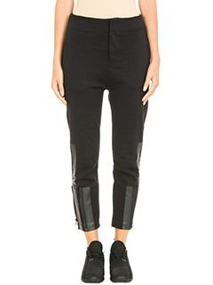 Y-3-Bold Stripe black cotton pants