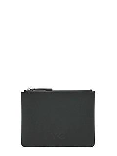 Y-3-Pochette Small logo in tessuto nero