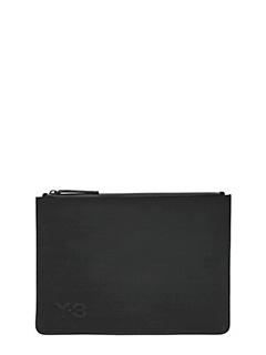 Y-3-Pochette logo in tessuto nero