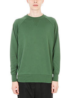 Y-3-Felpa in cotone verdae