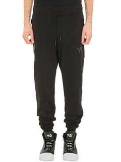 Y-3-black Logo cotton pants
