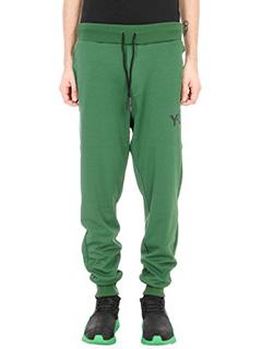 Y-3-Pantaloni track in cotone verde