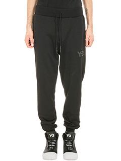 Y-3-Jogging black cotton pants